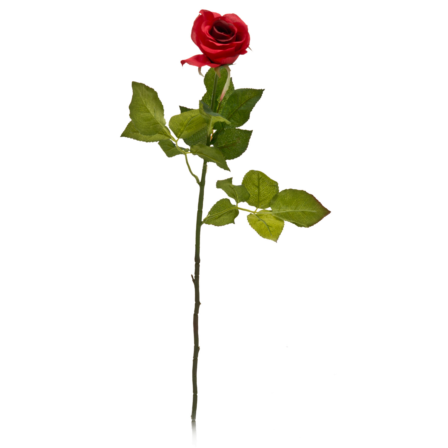 Image of Casa Artificial Artificial Rose Bud, Red, Large