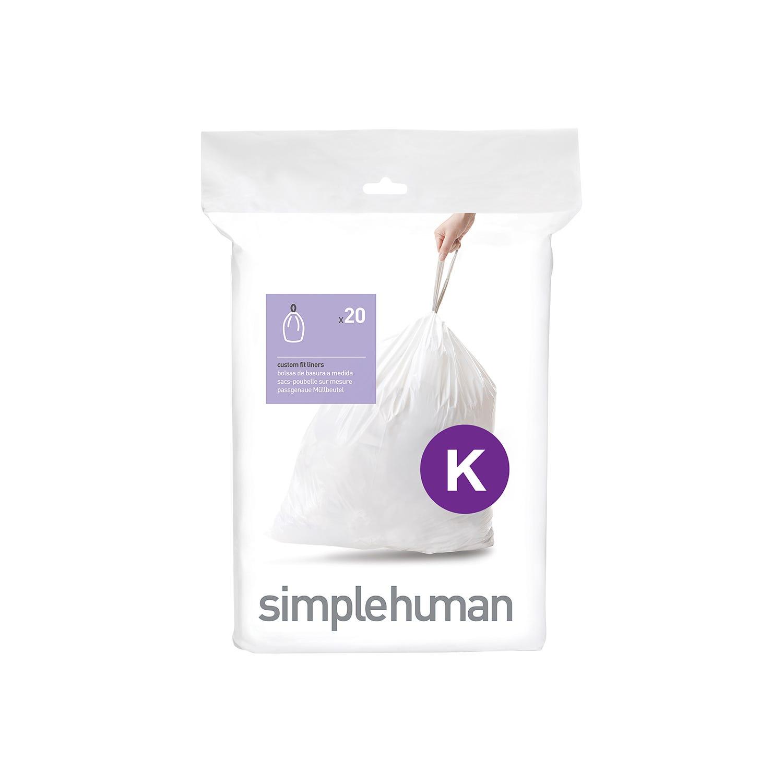 Image of Simplehuman Bin Liners 38L, Code K, (Pack of 20)