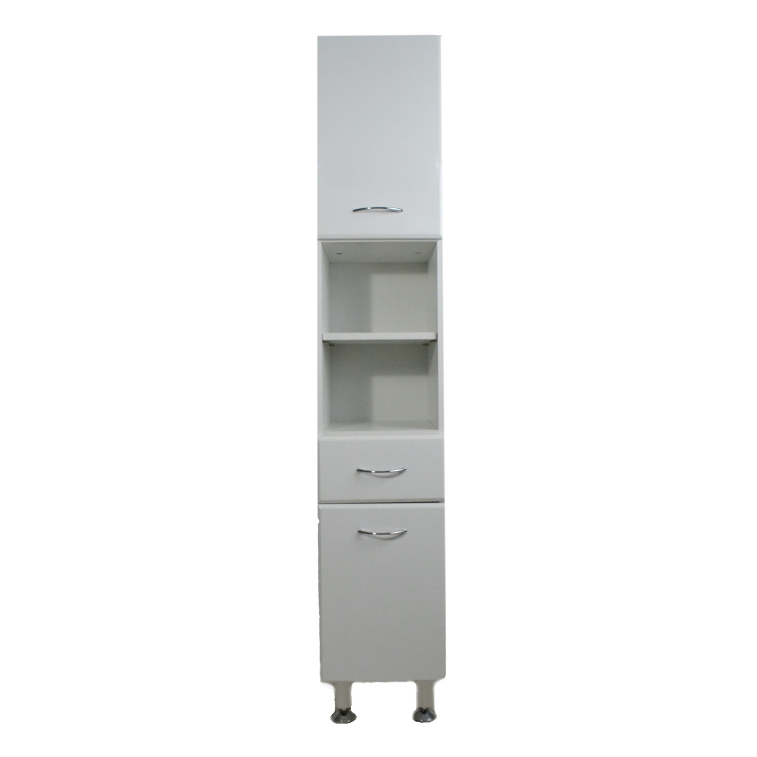 Milano white gloss tall narrow bathroom cabinet for Narrow bathroom cabinet