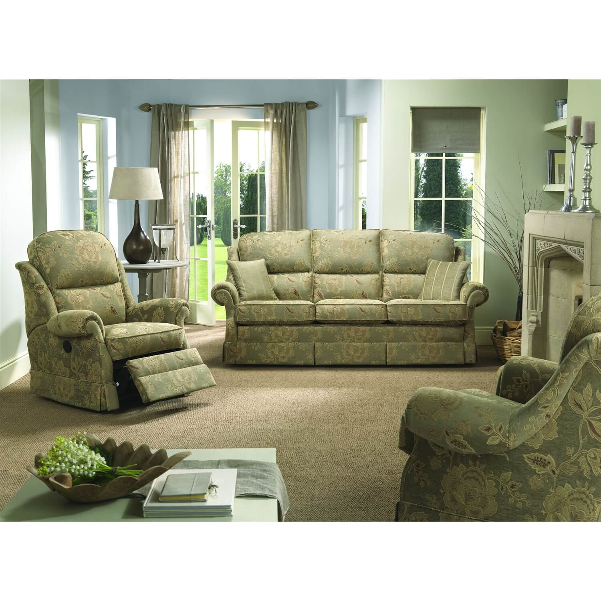 Image of Bridgecraft Malvern 3 Seater Fabric Sofa