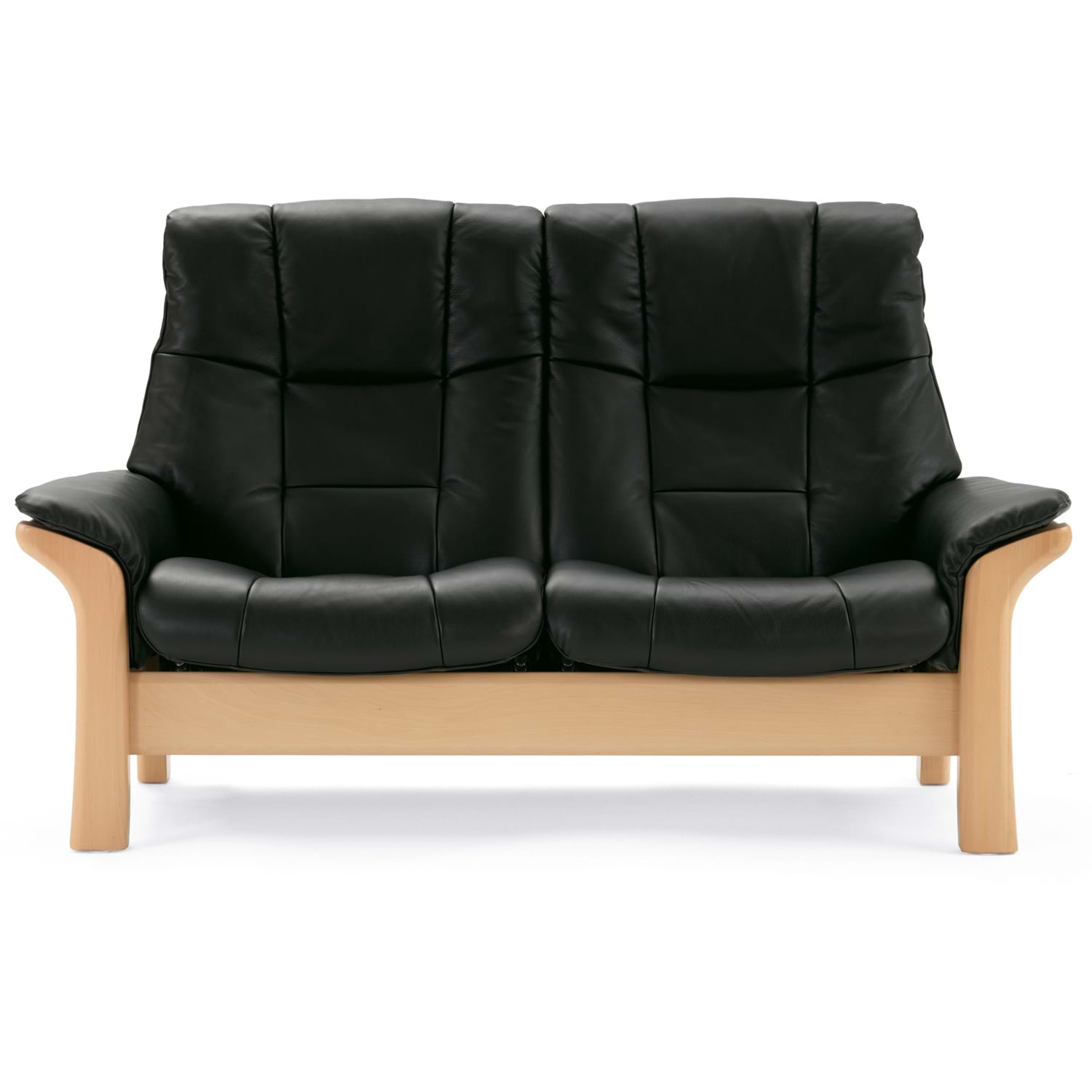 Image of Stressless Buckingham 2 Seater High Back Leather Sofa