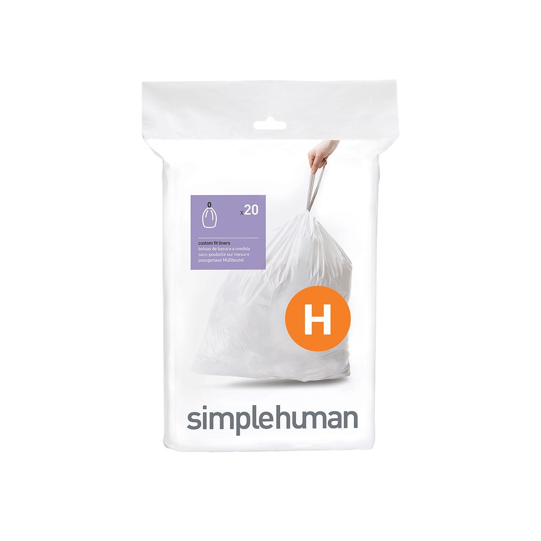 Image of Simplehuman Bin Liners 30L, Code H, (Pack of 20)