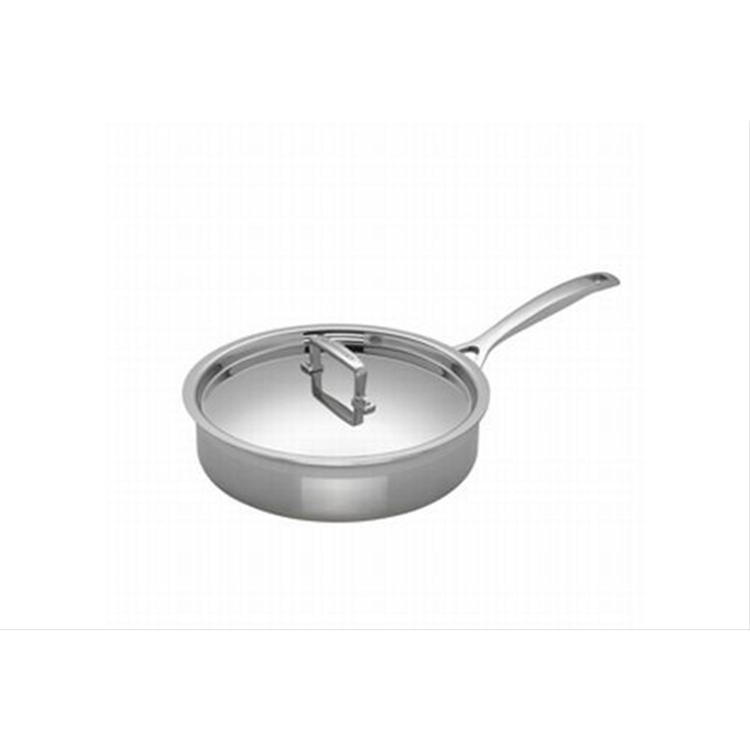 Image of Le Creuset 3-Ply Stainless Steel Saute Pan, 24cm