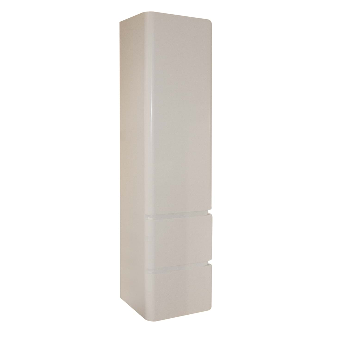 Image of Casa Contour Tall Side Unit, Gloss White