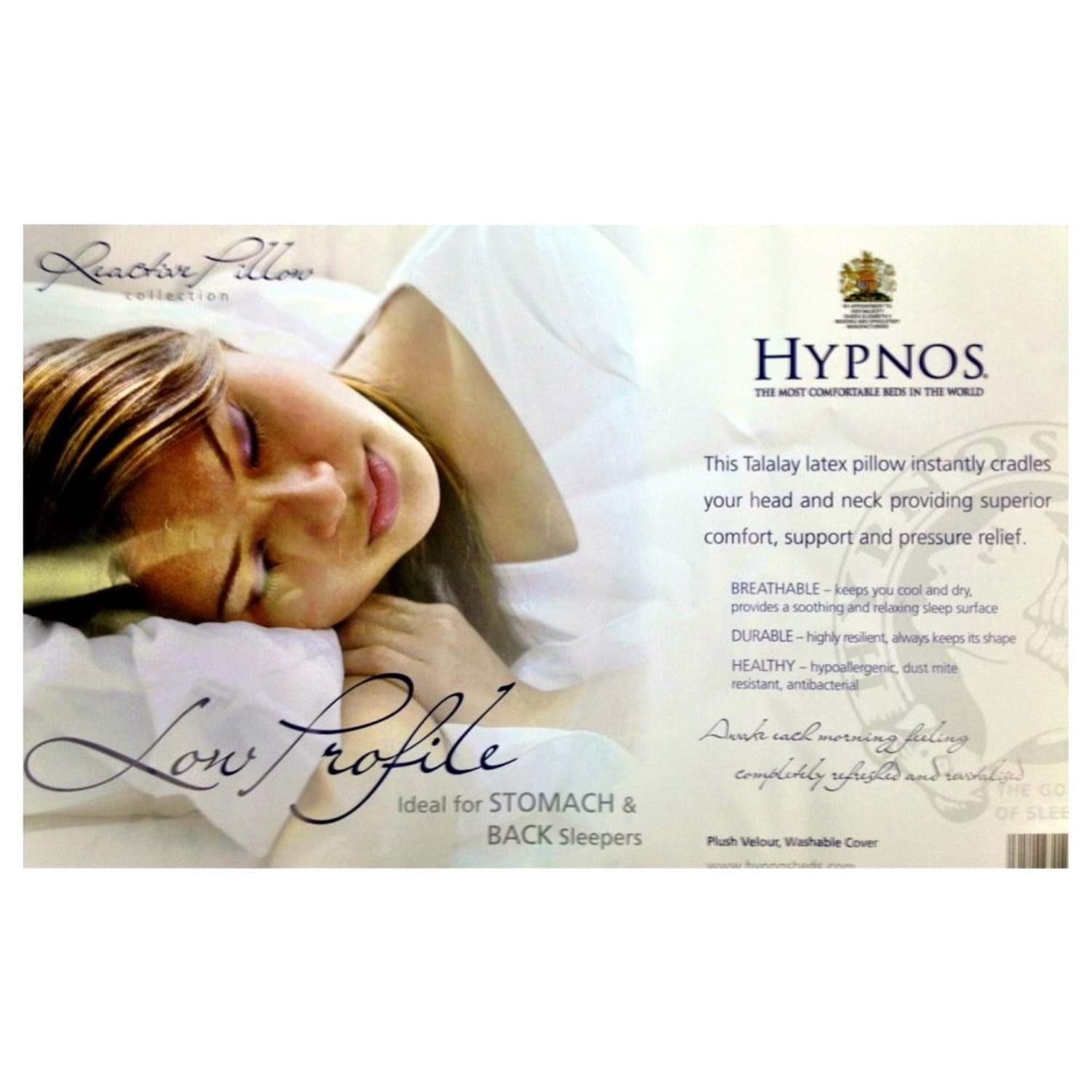 Image of Hypnos Low Profile Latex Pillow