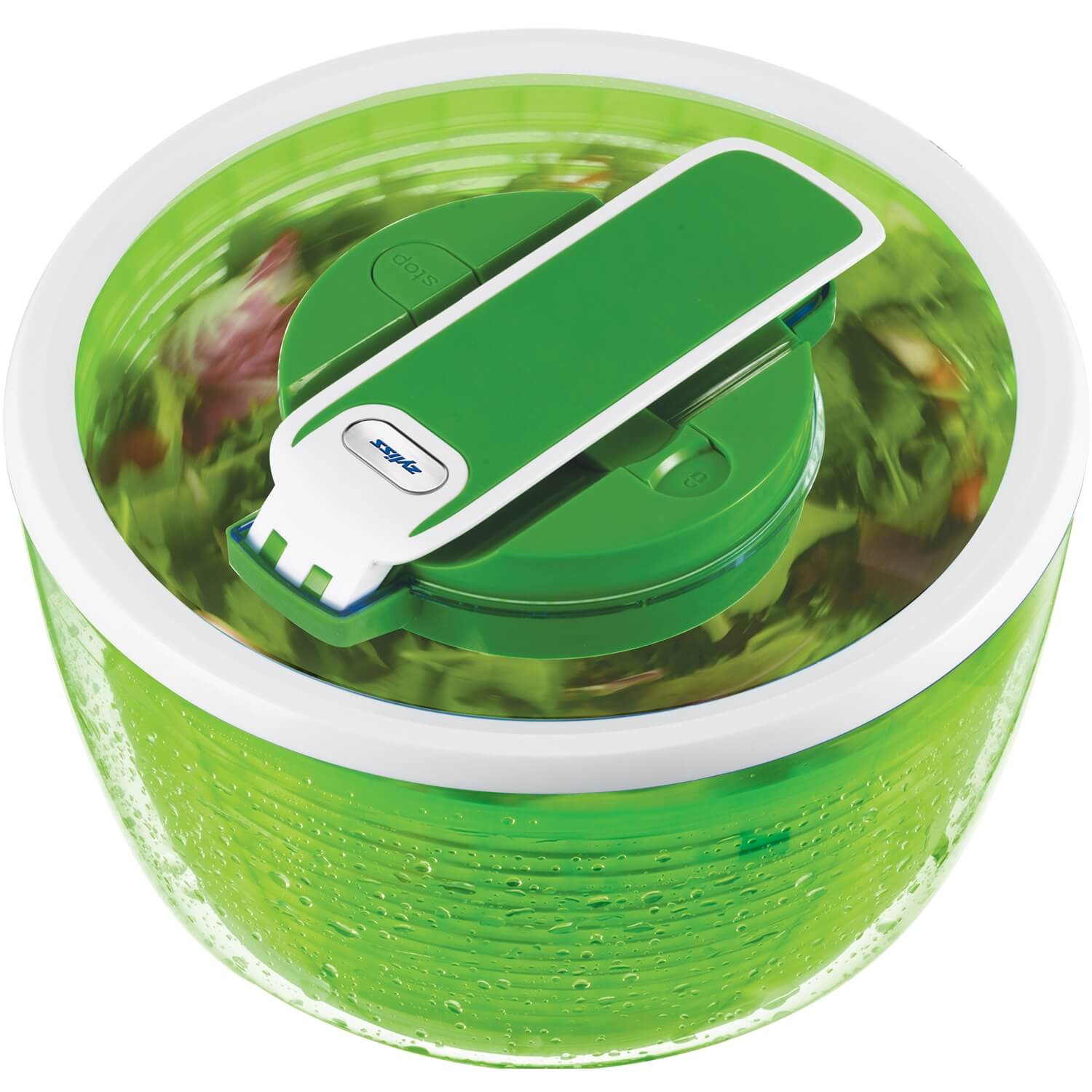 Image of Zyliss Swift Dry Salad Spinner, Green