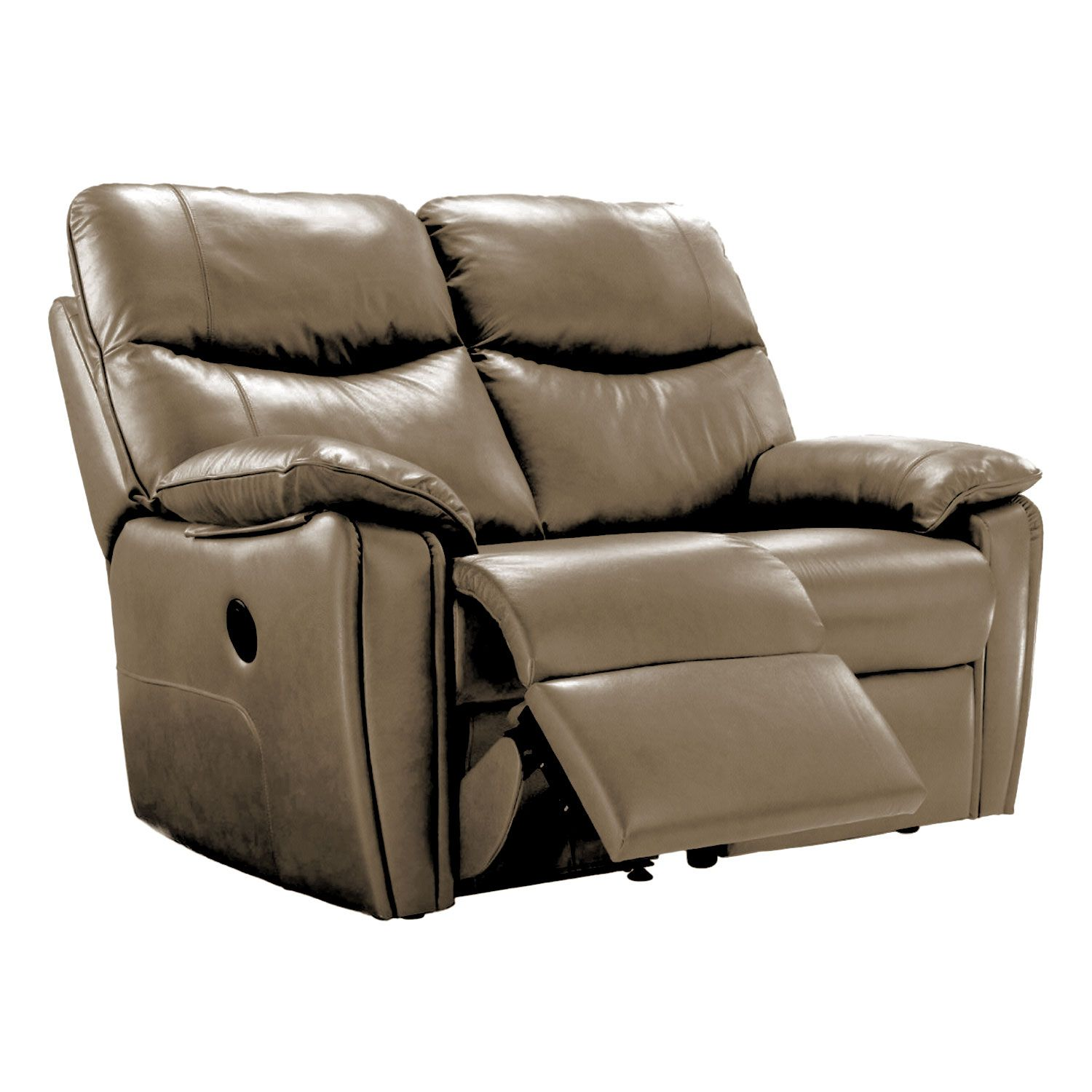 G Plan Henley 2 Seater Right Power Recliner Leather Sofa
