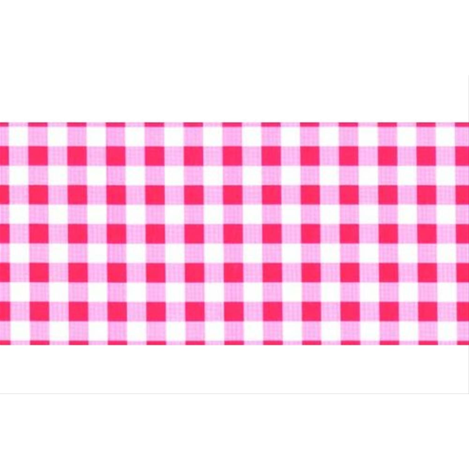 1.5m x 450mm Self Adhesive Vinyl, Red Gingham