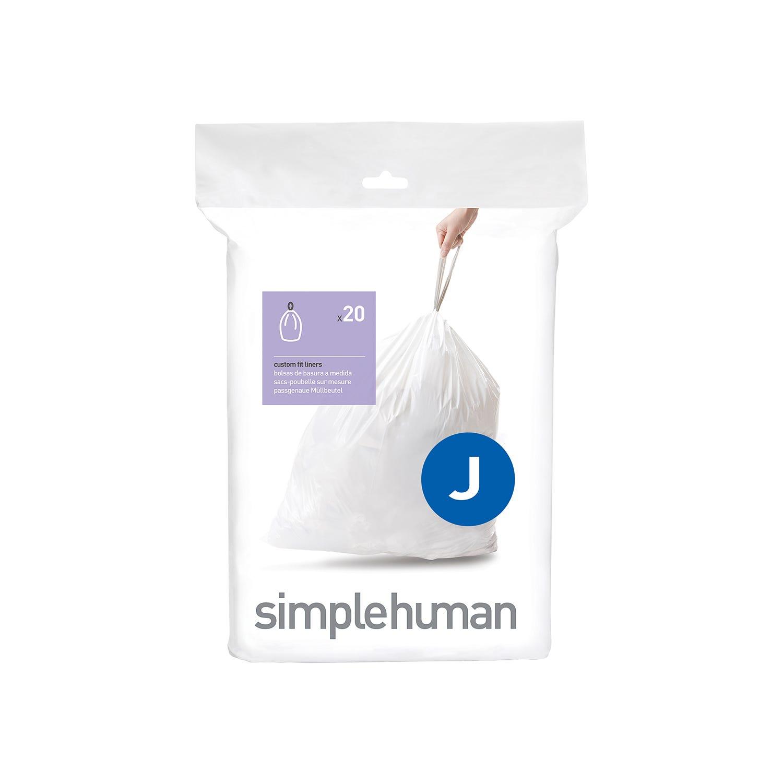 Image of Simplehuman Bin Liners 38L-40L, Code J, (Pack of 20)