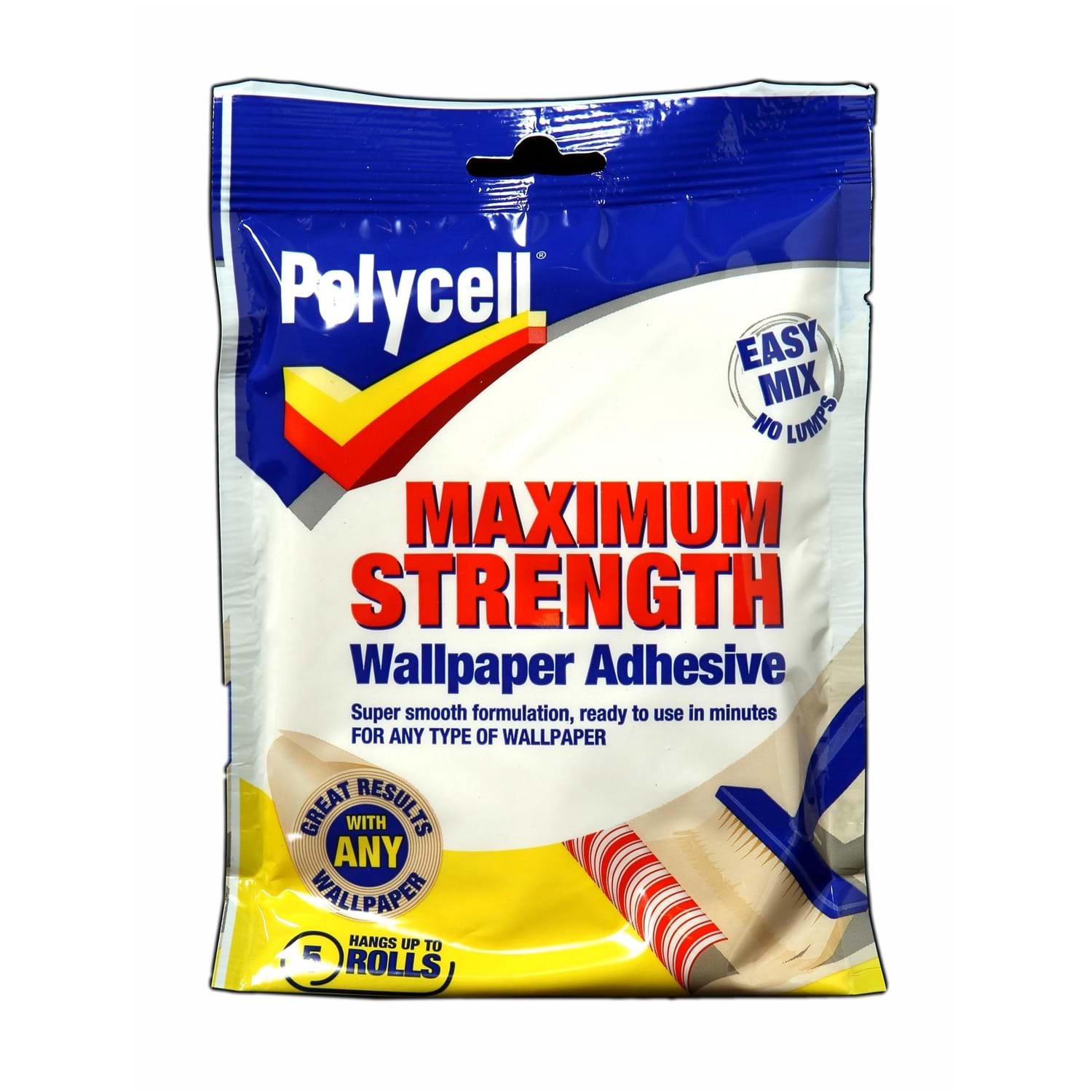 Image of Polycell 5 Roll Max Strength Wallpaper Adhesive