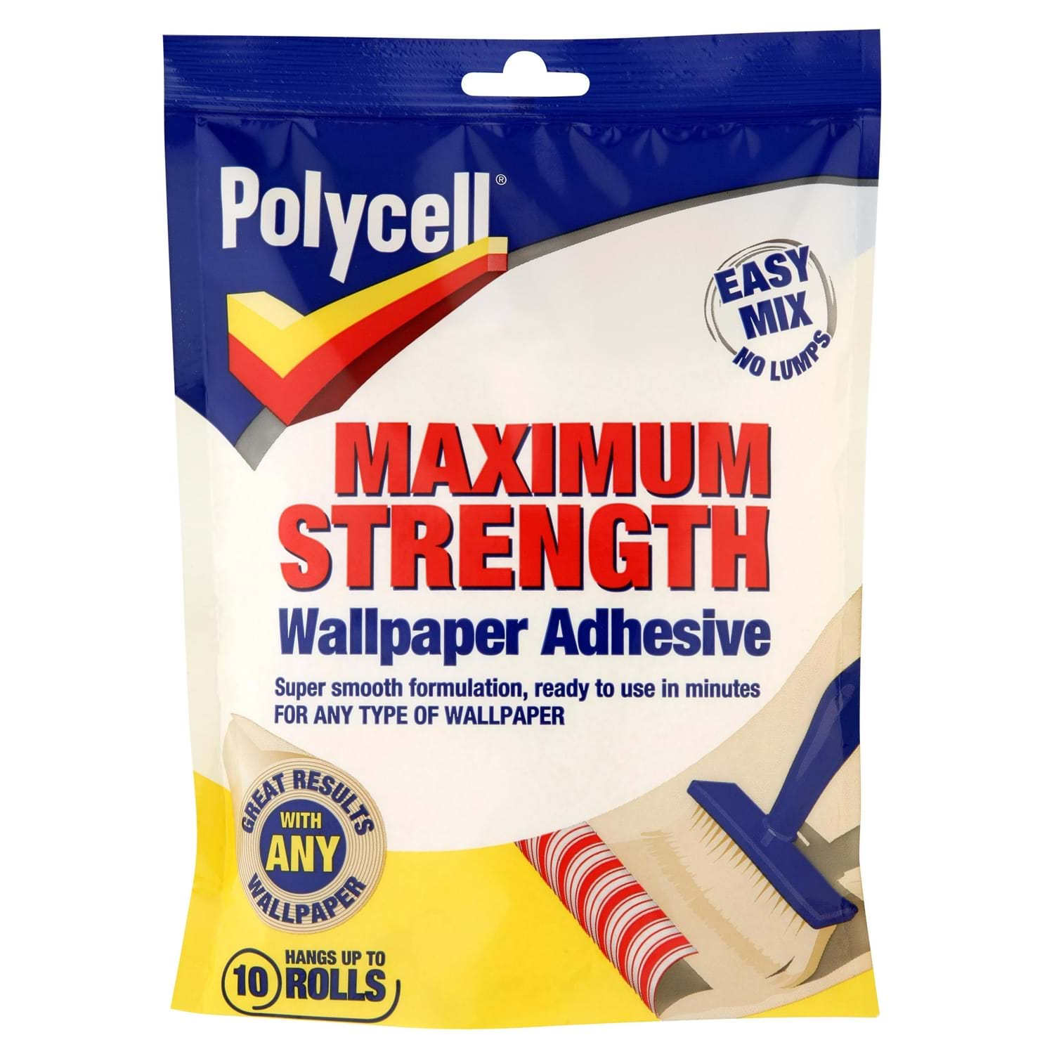 Image of Polycell 10 Roll Max Strength Wallpaper Adhesive