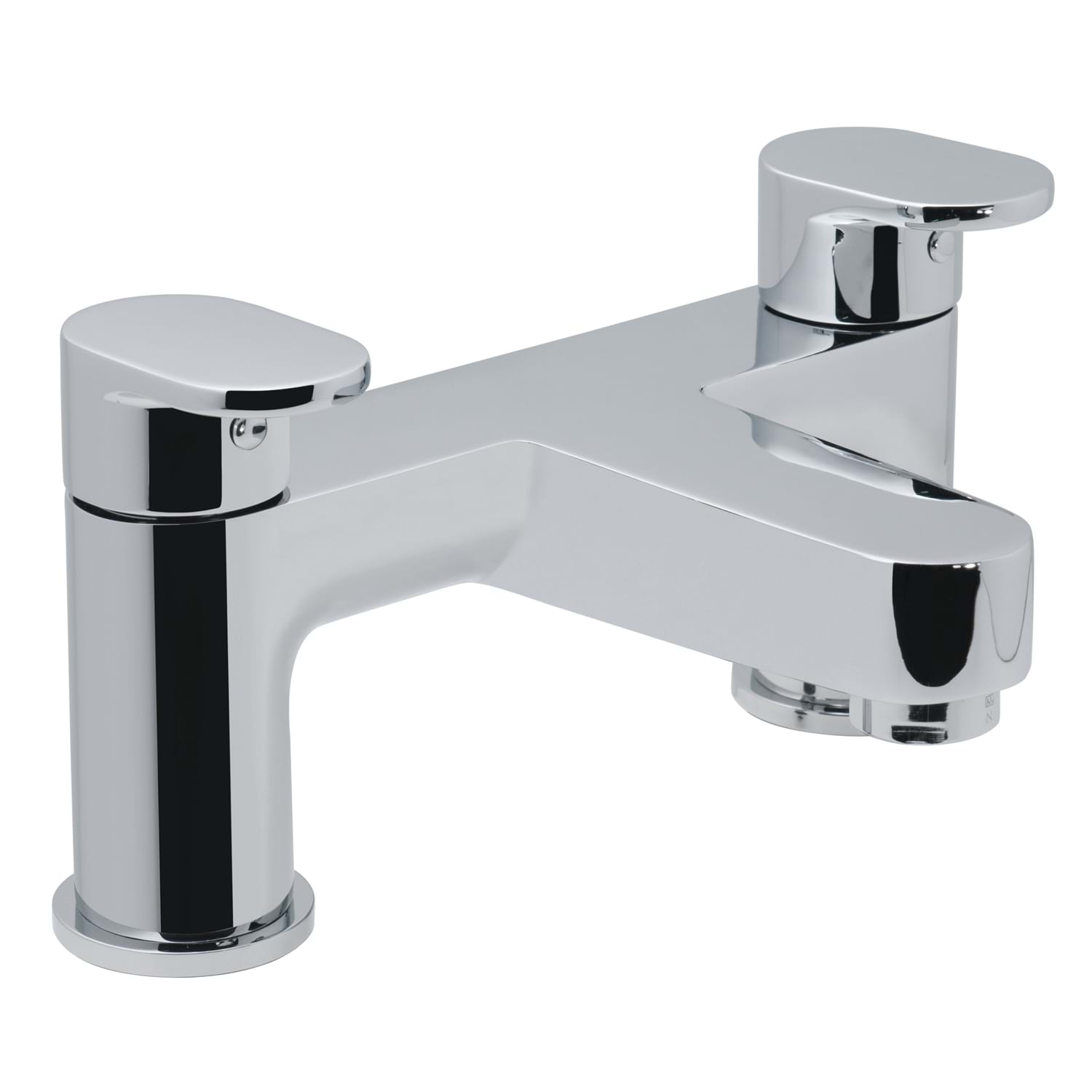 Image of Casa Neon 2 Hole Deck Mounted Bath Filler, Chrome