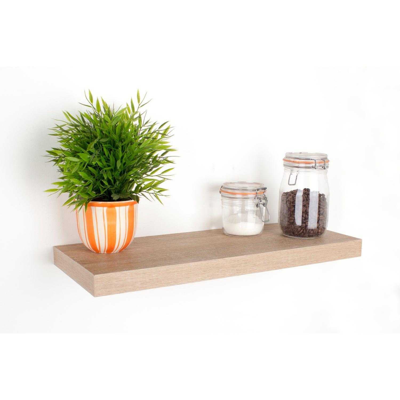 Image of Core Products 600mm Oak Box Shelf Kit, Light Brown
