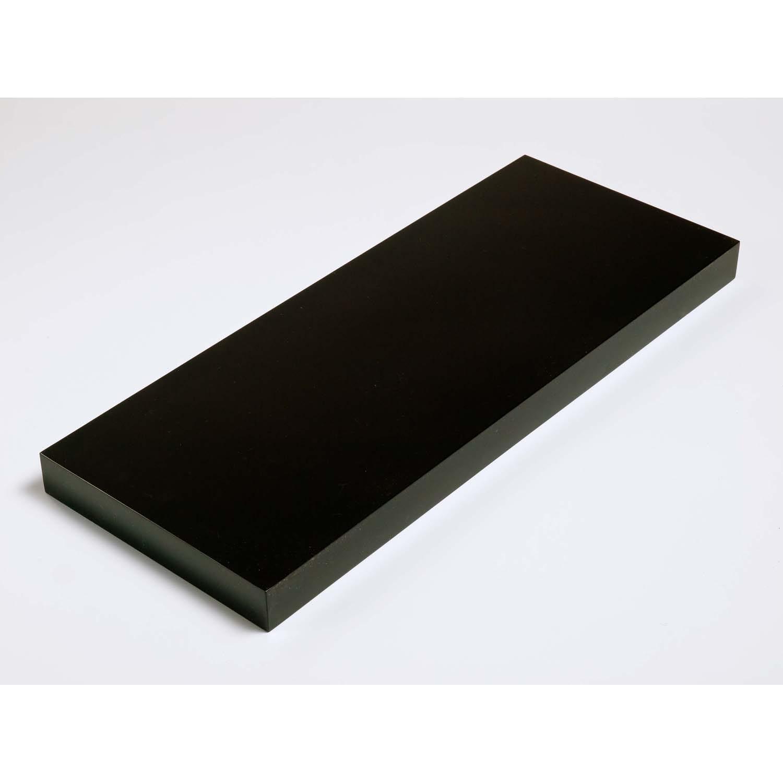 Image of Core Products 600mm Black Box Shelf Kit, Gloss Black