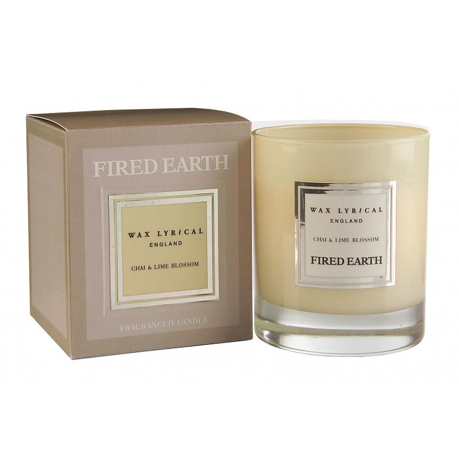 Fired Earth Candle, Chai & Lime Blossom