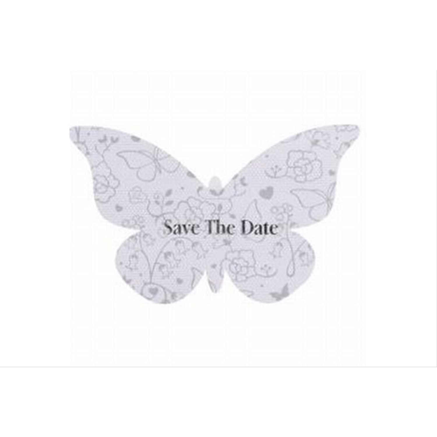 10 Pack Save The Date Butterfly Cards