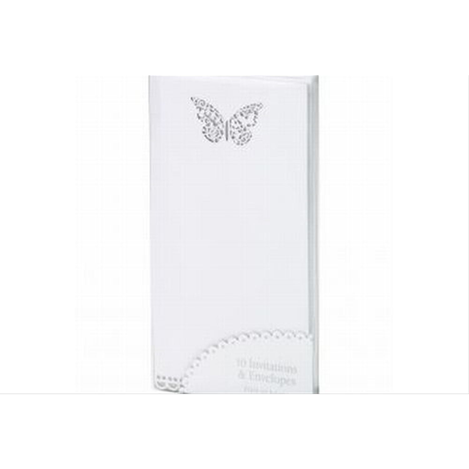 10 Pack Butterfly Invitations