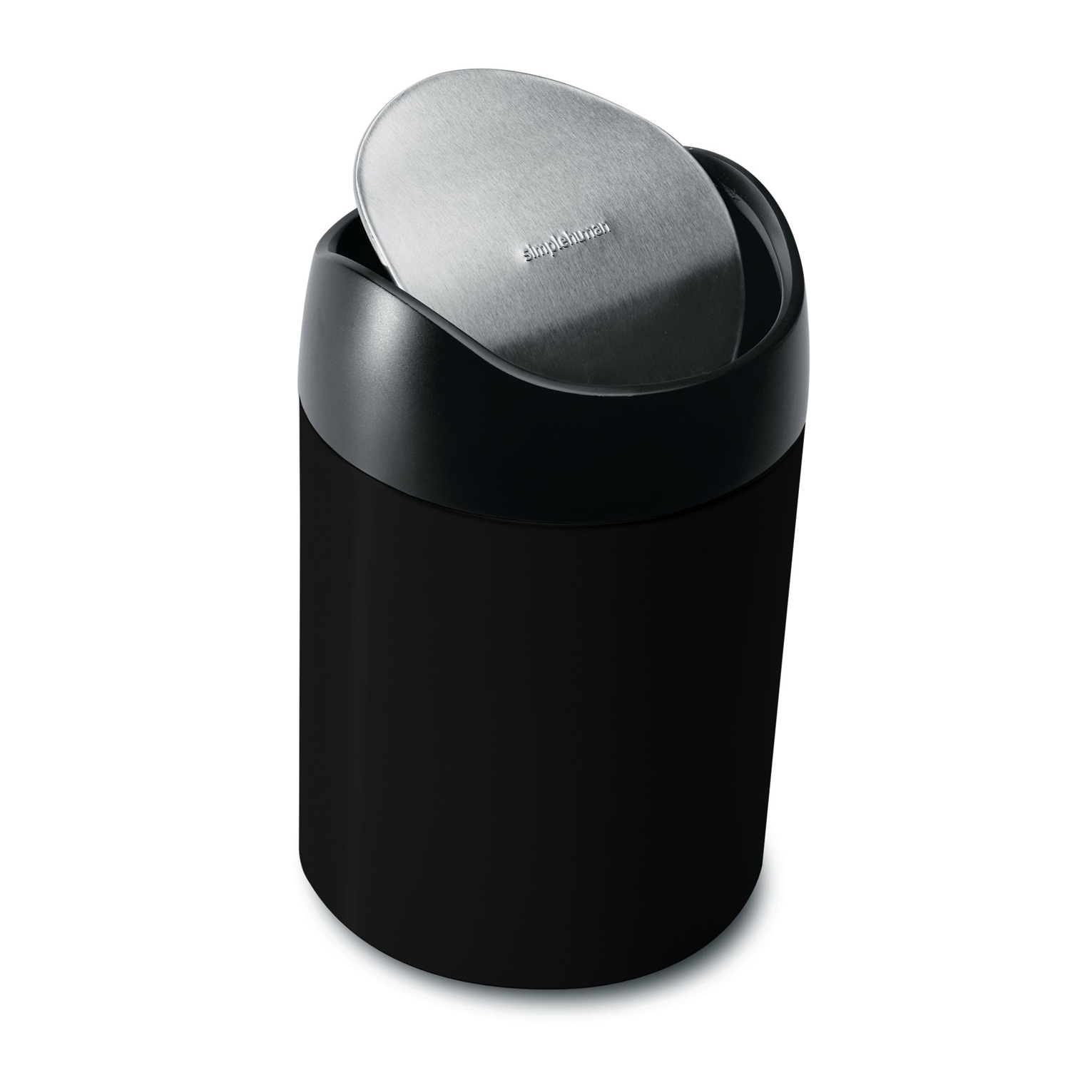 1.5 Litre Tabletop Bin Black