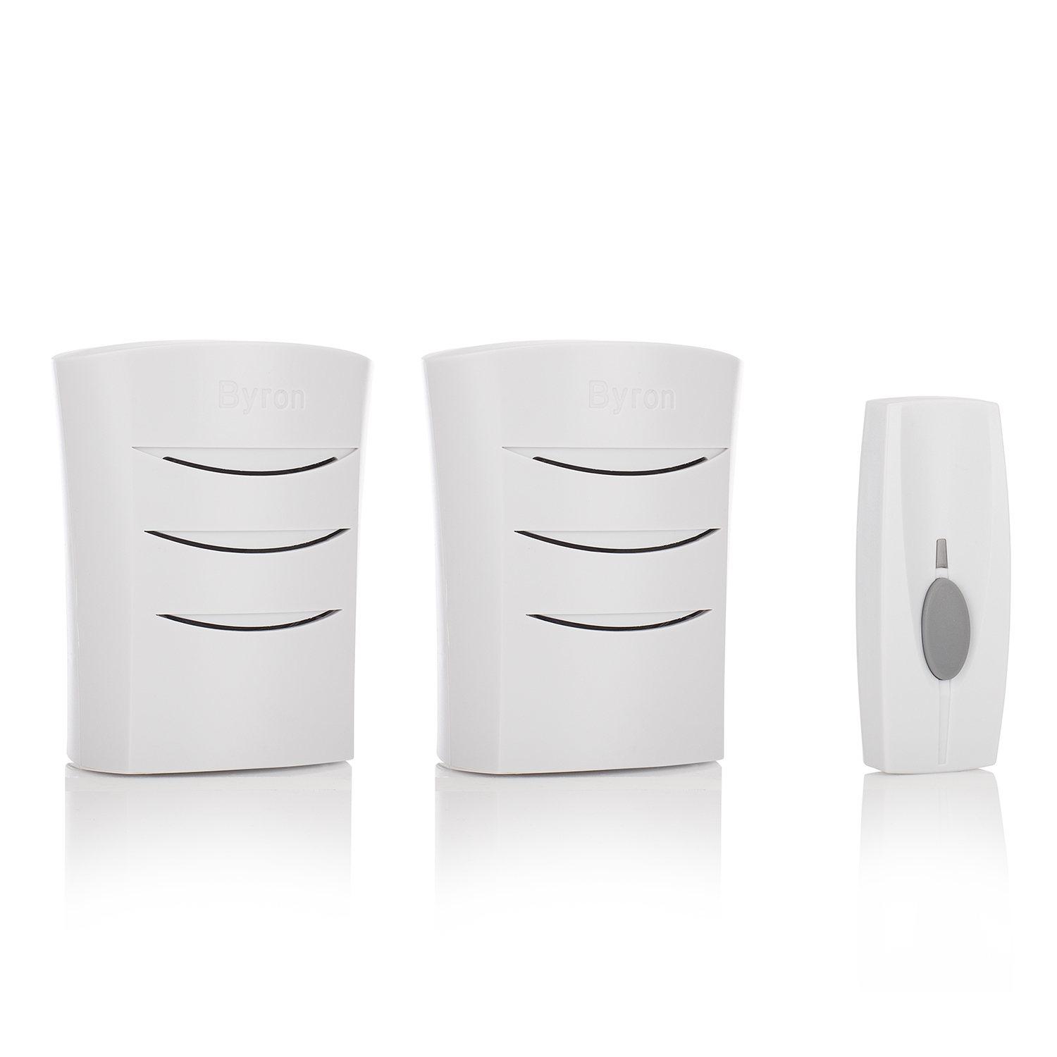 Image of Byron BY112 60m Wireless Doorbell Kit with Portable & Plug In Chimes