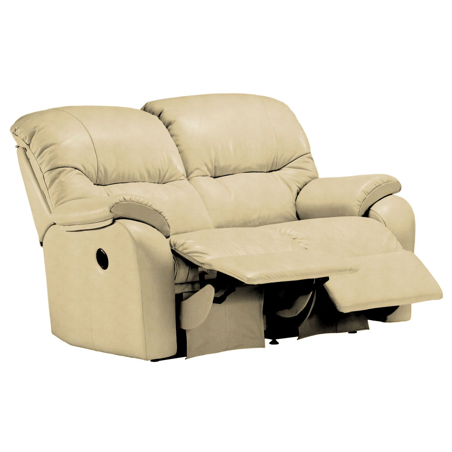 Image of G Plan Mistral 2 Seater Left Power Recliner Leather Sofa