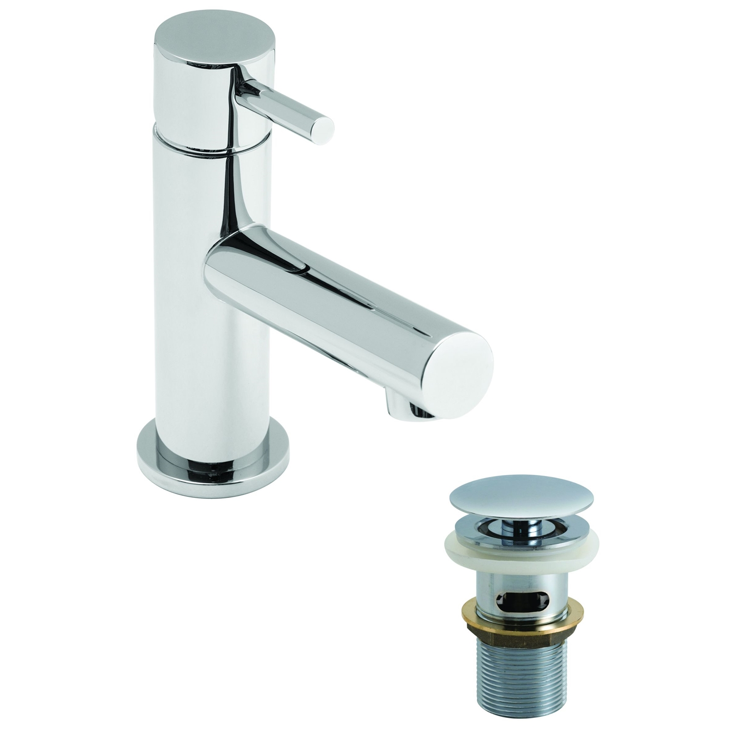 Image of Casa Calgary Mini Mono Basin Mixer Single Lever without Clic Waste, Chrome