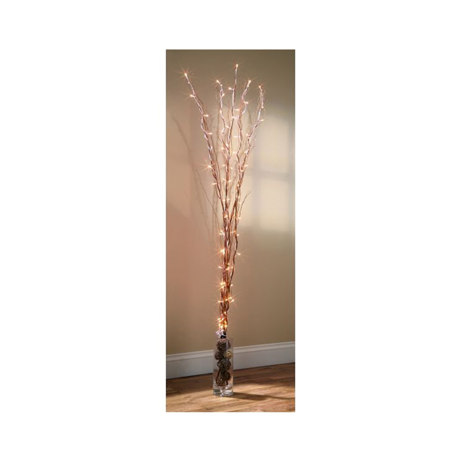 1.2M Black Twigs with 80 LED