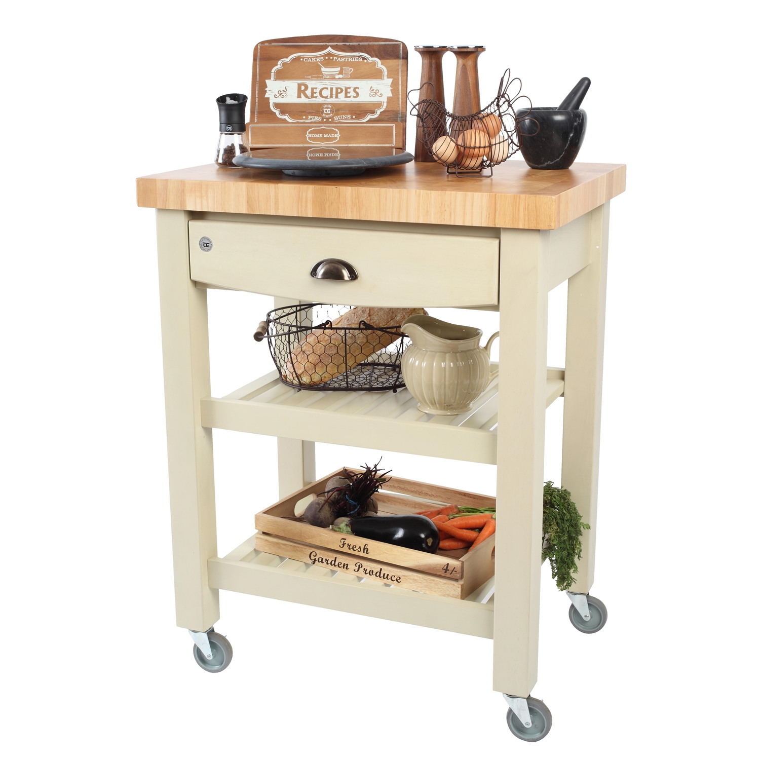 Image of T&G Woodware Pembroke Trolley, Flatpack