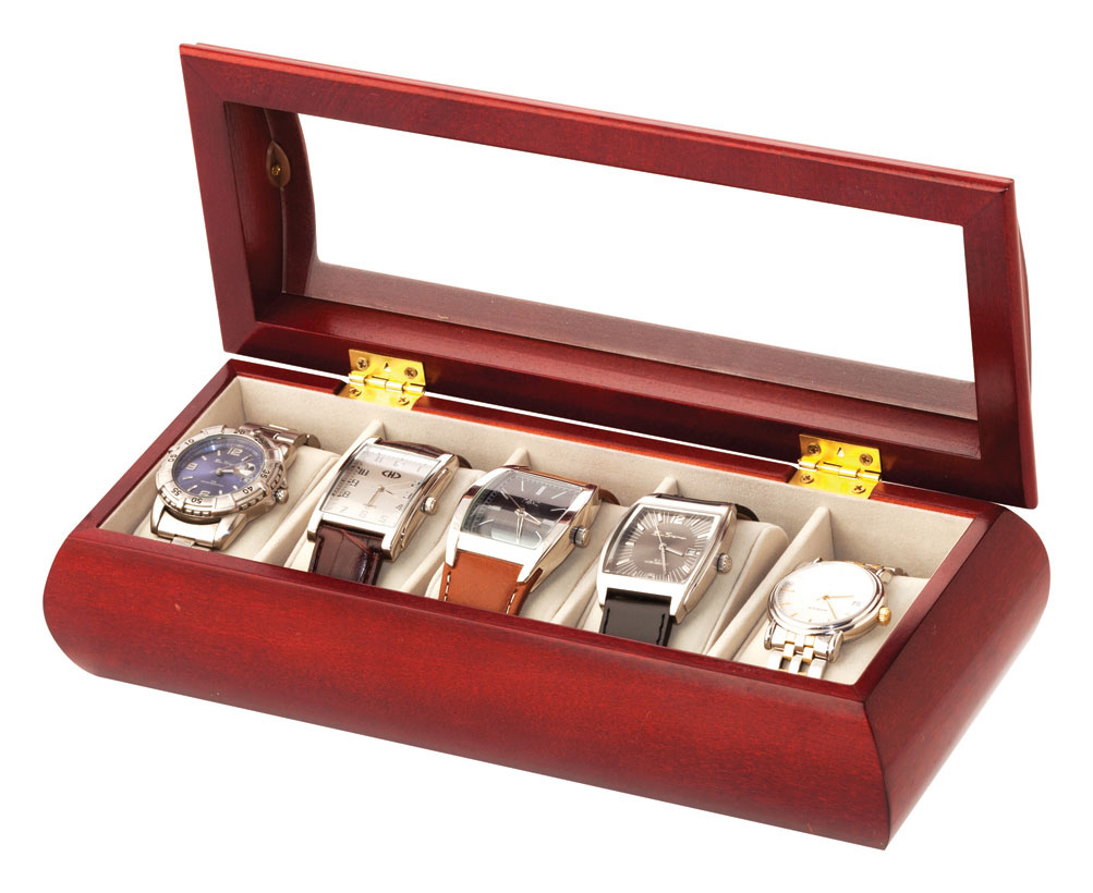 Image of Cherry 5 Watch Box Glass Top