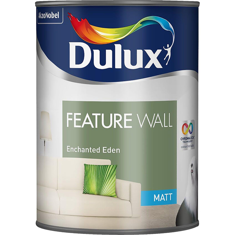 Image of Dulux 1.25L Feature Wall Matt Emulsion Paint, Enchanted Eden