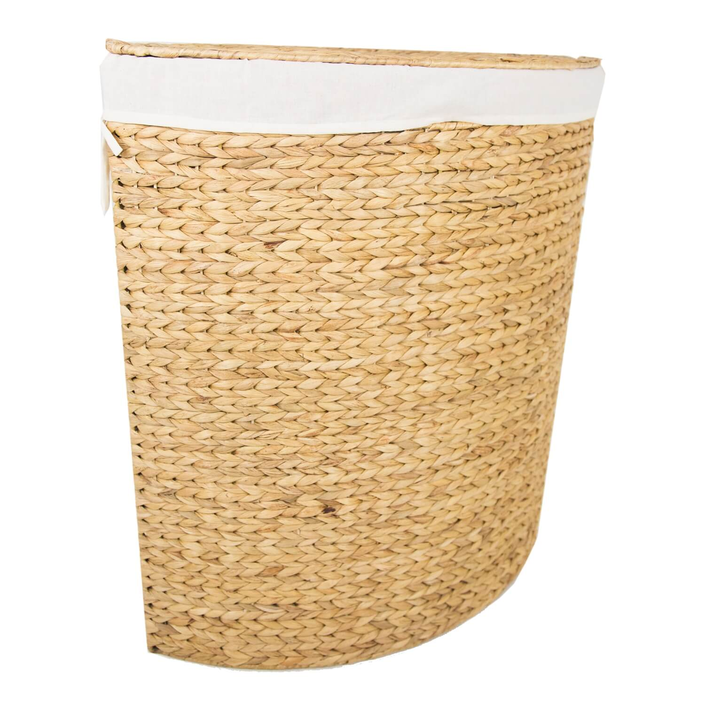 Image of Casa Corner Laundry Bin, Large, Natural