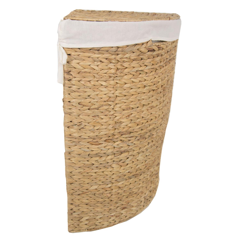 Image of Casa Corner Laundry Bin, Small, Natural