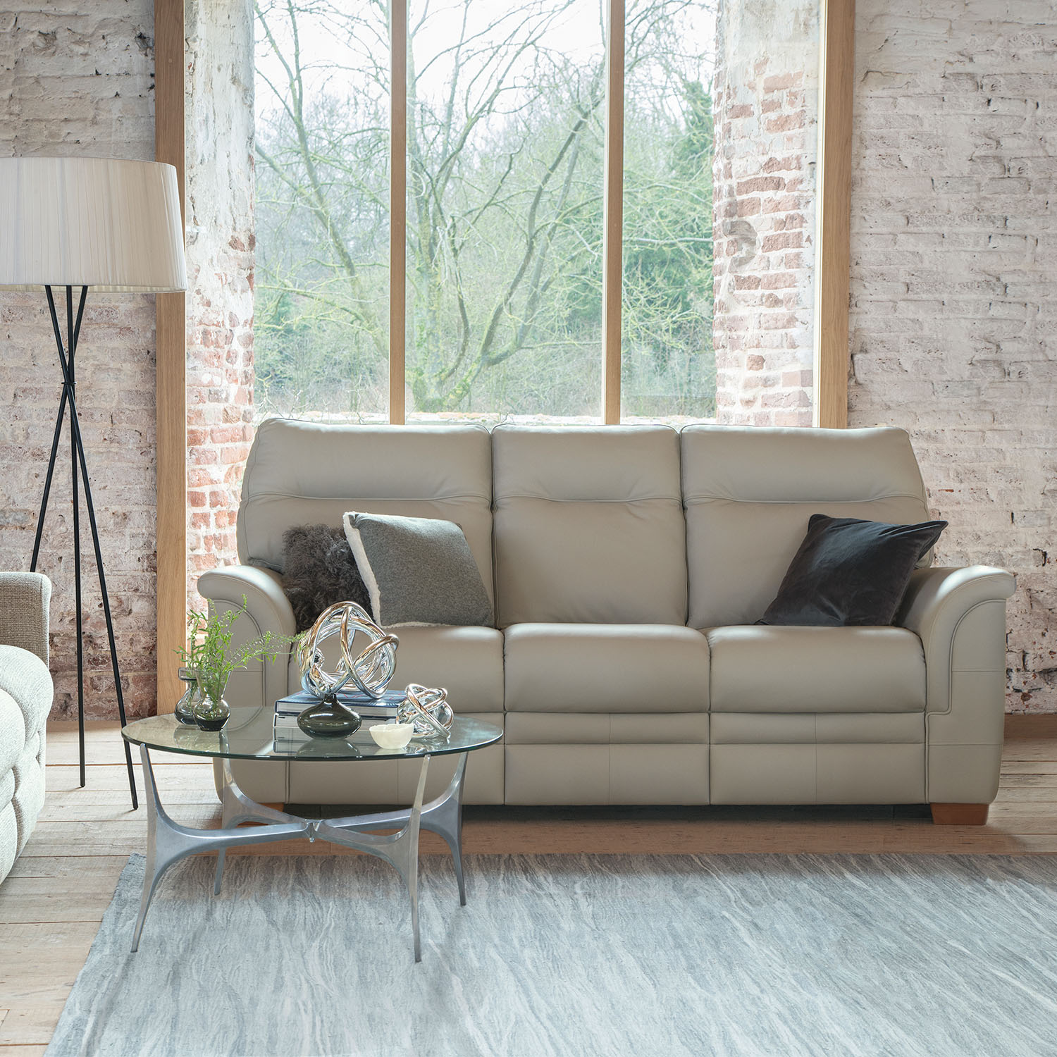 Image of Parker Knoll Hudson 3 Seater Leather Sofa