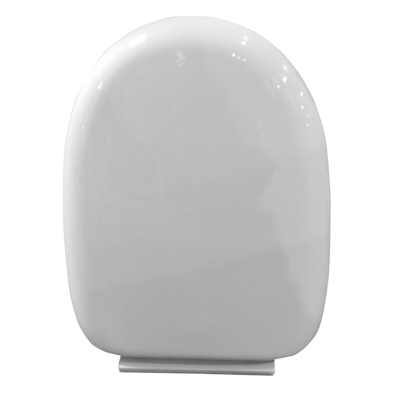 """Image of Casa """"D"""" Shaped Slow Close Toilet Seat, White"""