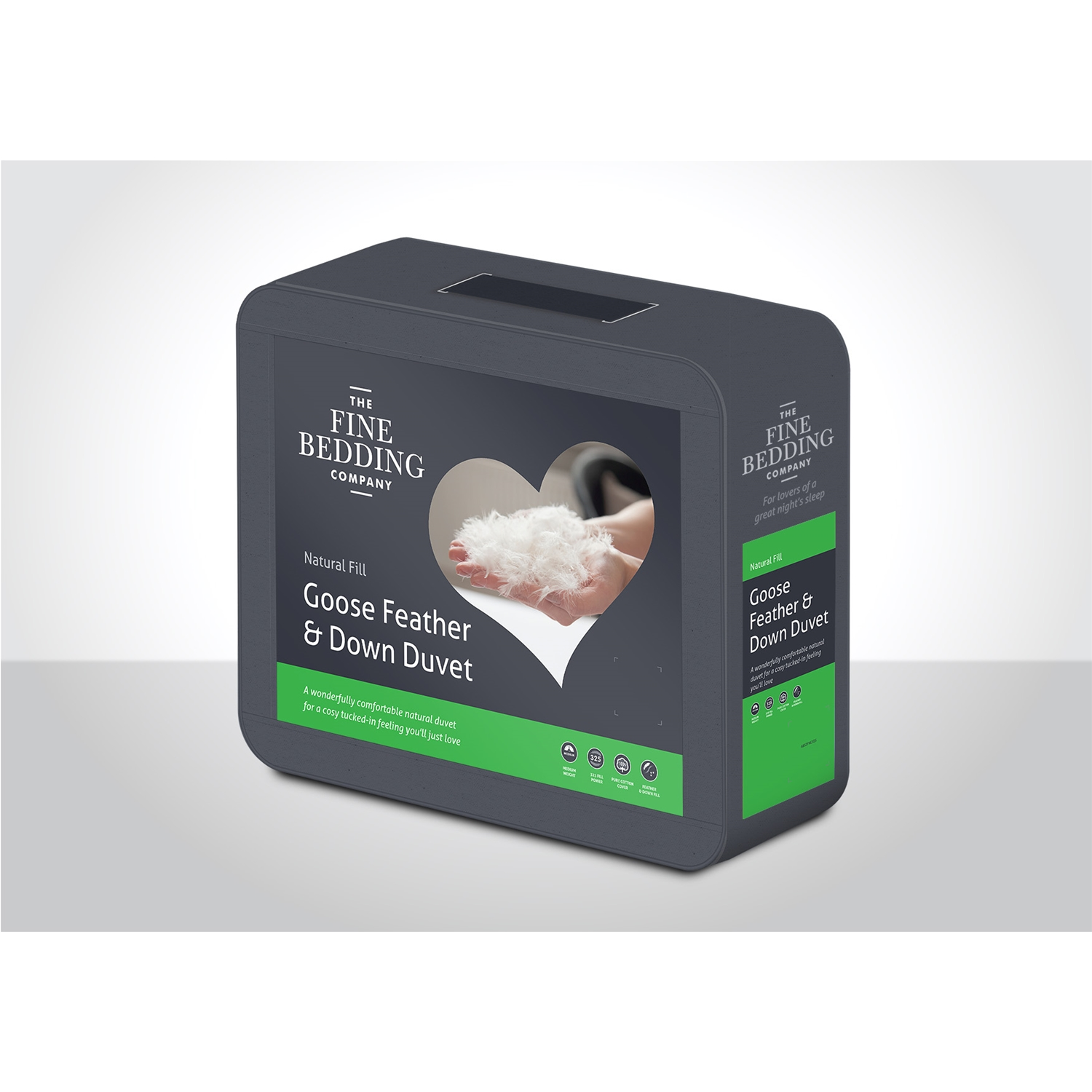 Image of Fine Bedding Company Goose Feather & Down Duvet, 13.5 Tog, Single