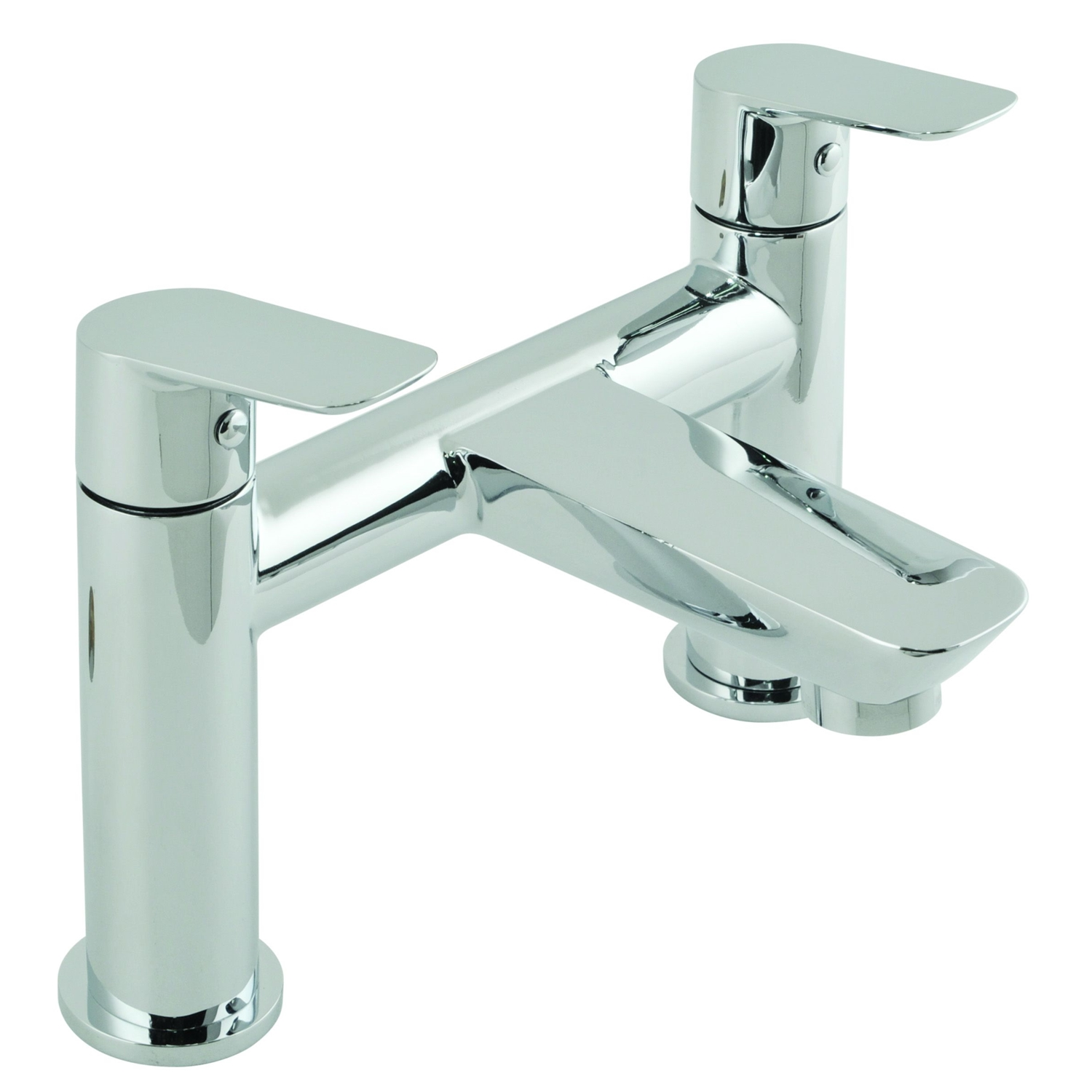 Image of Casa Panama 2 Hole Bath Filler Deck Mounted, Chrome