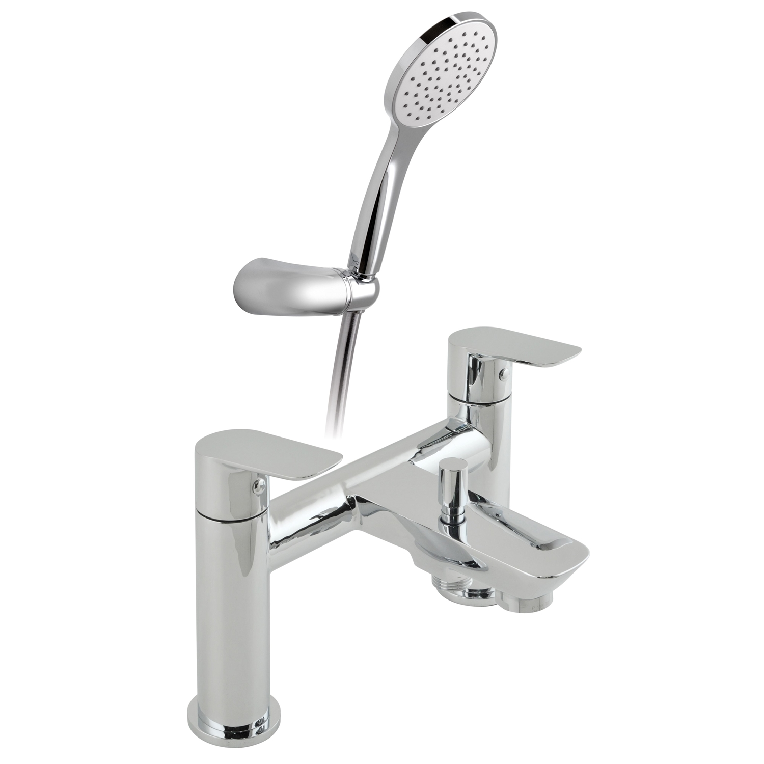 Image of Casa Panama 2 Hole Bath Shower Mixer, Chrome