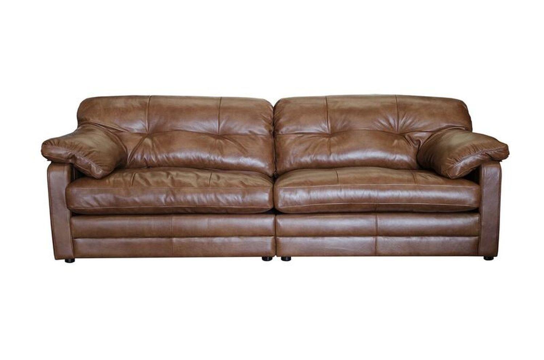 Image of Alexander & James Bailey 4 Seater Split Leather Sofa