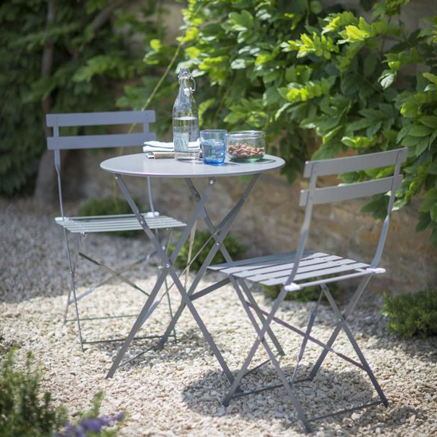 Image of Garden Trading Rive Droite Bistro Set, Clay