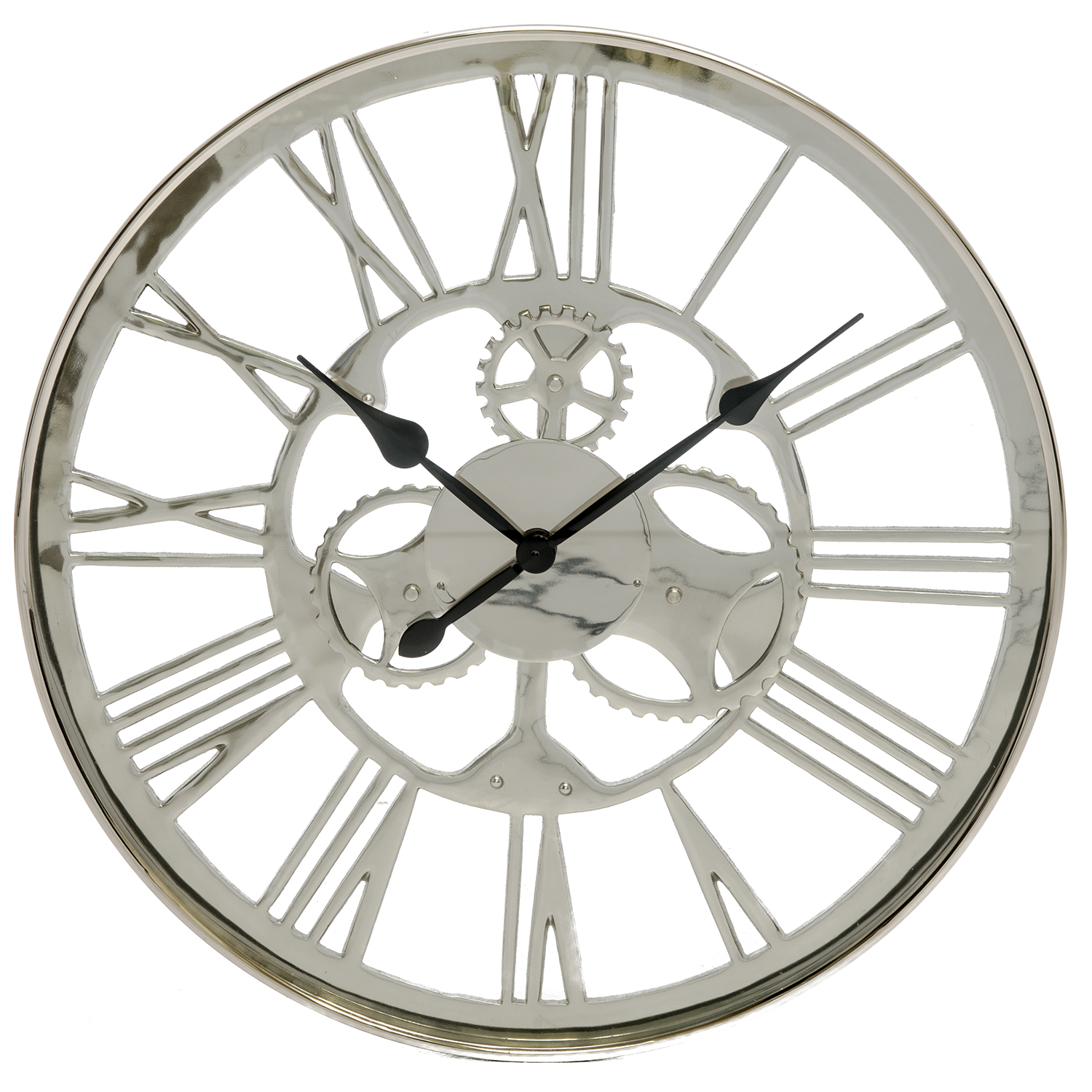 Image of Casa Westminster Artistic Gears Wall Clock, Silver