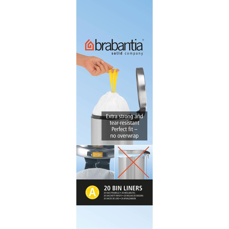 Image of Brabantia Bin Liner A, 3L, 20 Bags, White