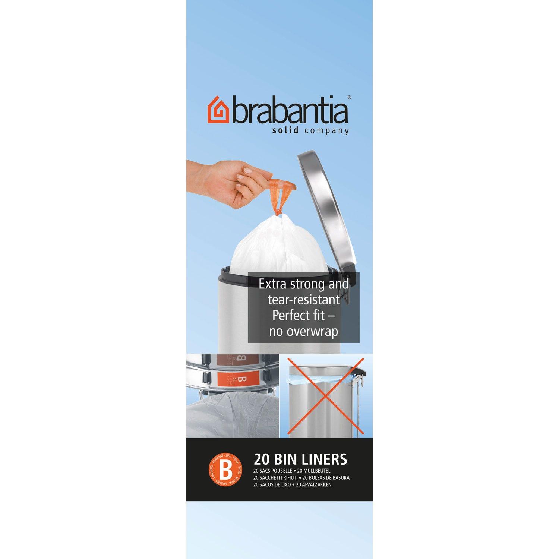 Image of Brabantia Bin Liner B, 5L, 20 Bags, White