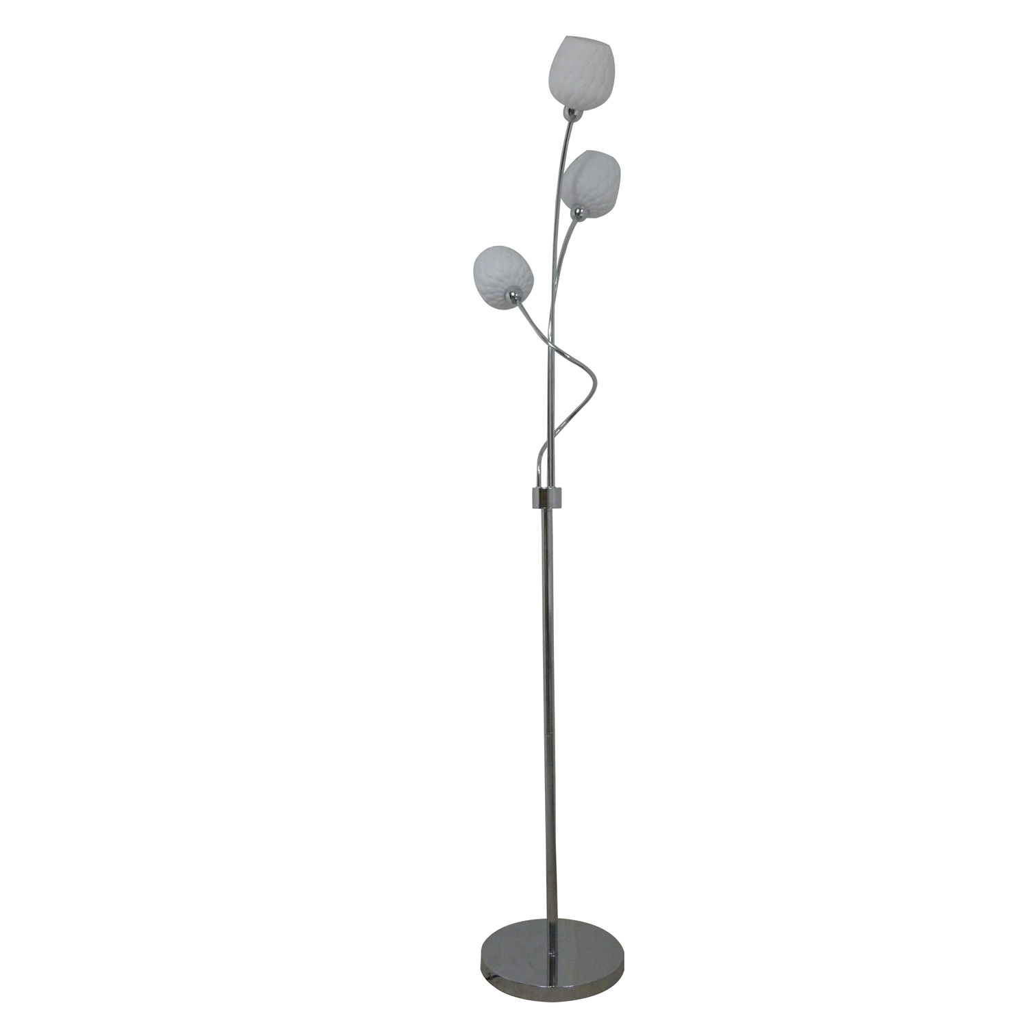 Belgravia 3 Light Floor Lamp, White