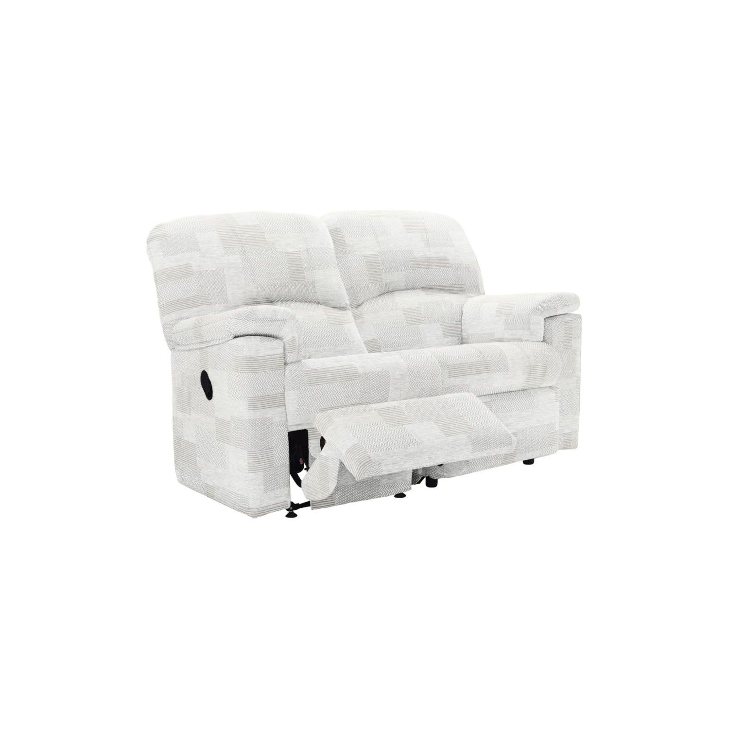 Image of G Plan Chloe 2 Seater Double Manual Recliner Fabric Sofa