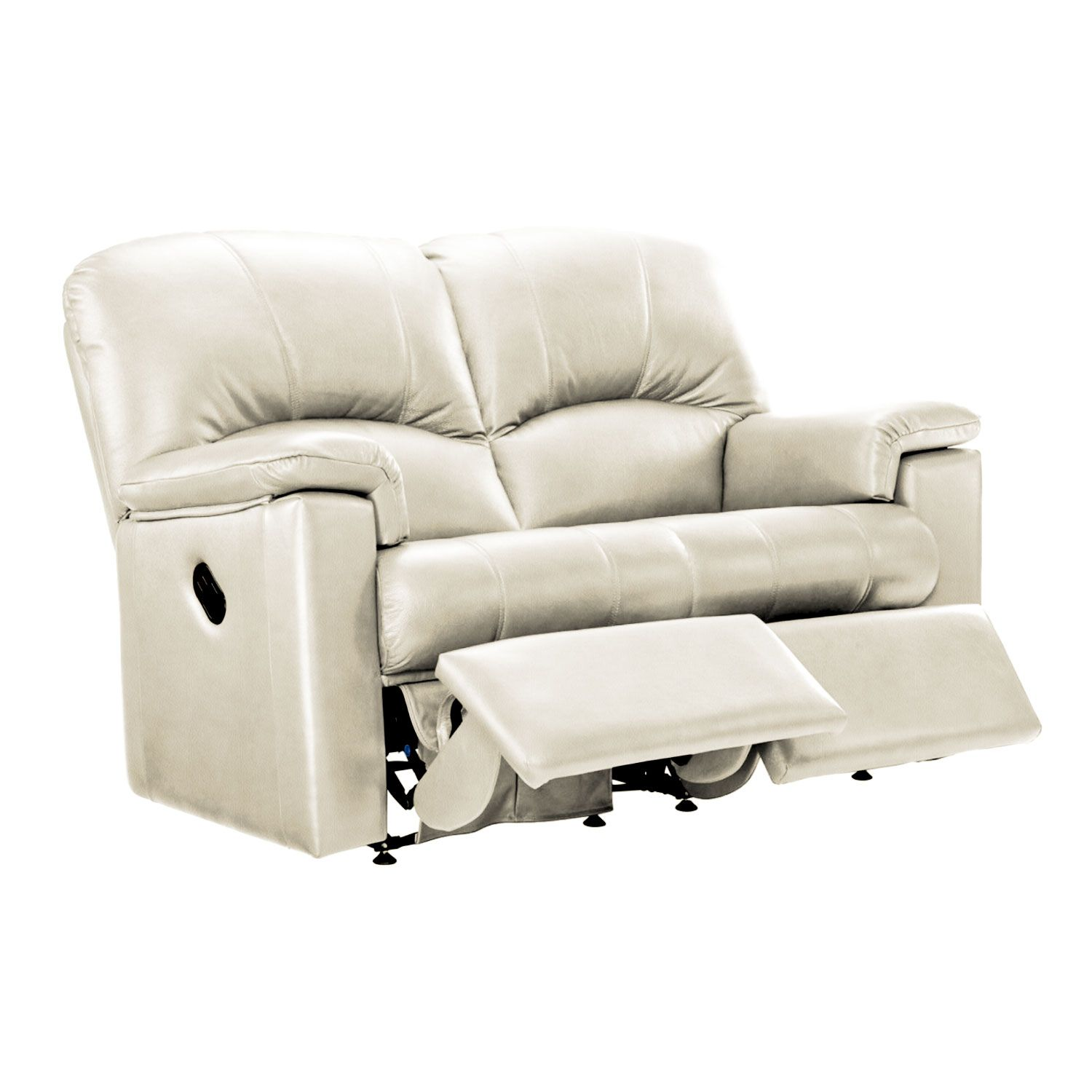 Image of G Plan Chloe 2 Seater Left Manual Recliner Leather Sofa