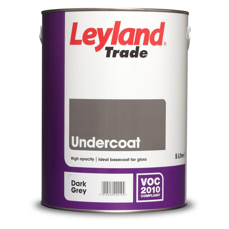 Image of Leyland 5L Undercoat Dark Grey Paint