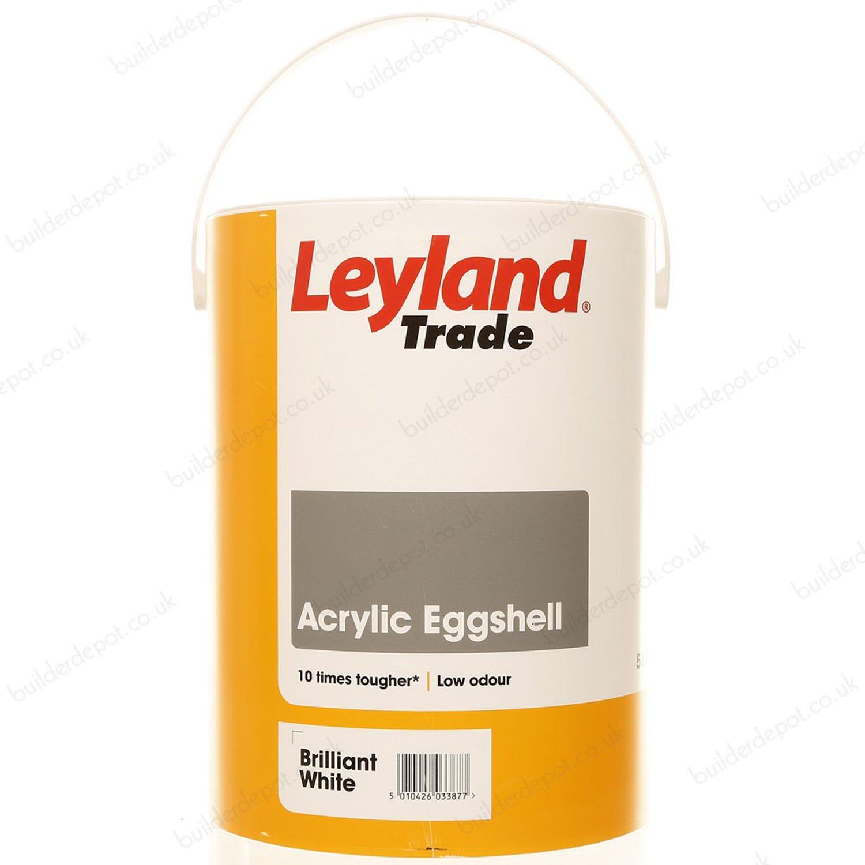 Image of Leyland 5L Acrylic Eggshell Paint, White
