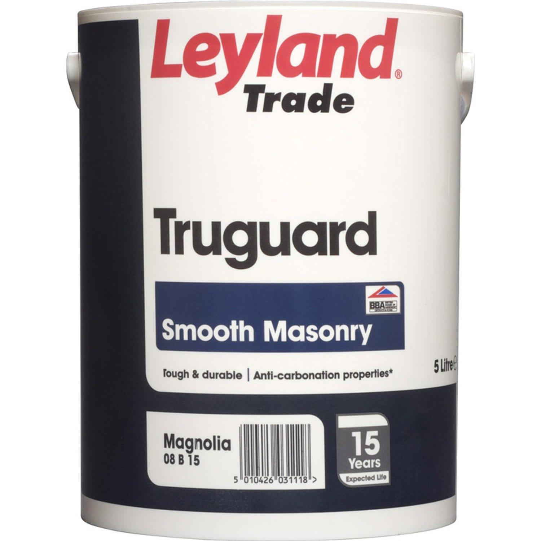 Image of Leyland 5L Truguard Masonry Paint, Magnolia