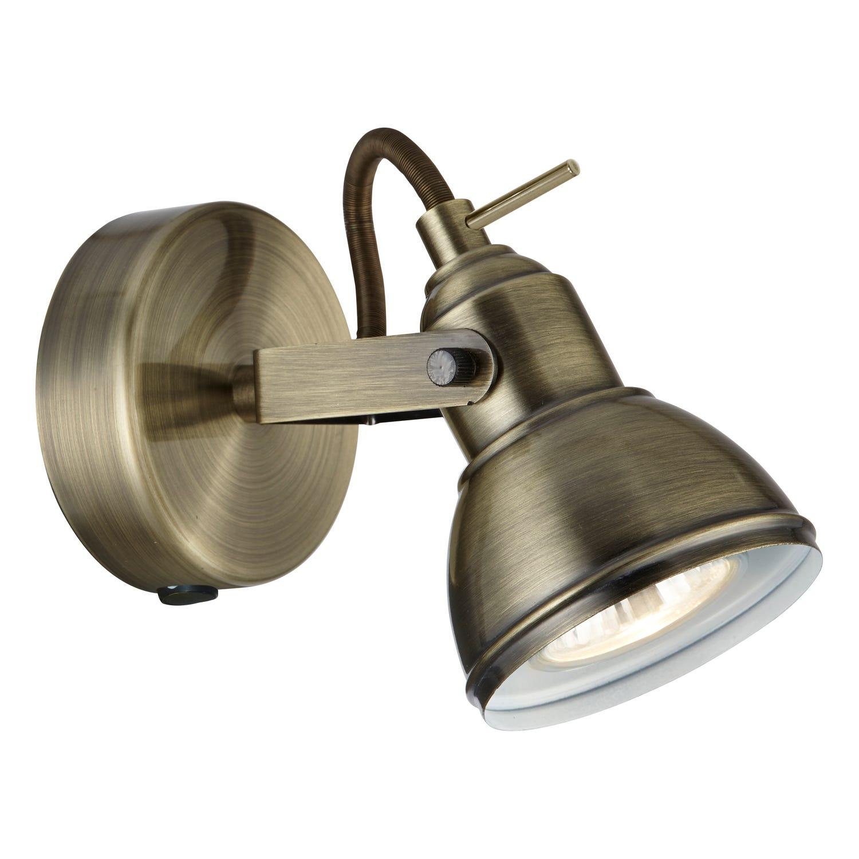 1 Spot Light, Antique Brass