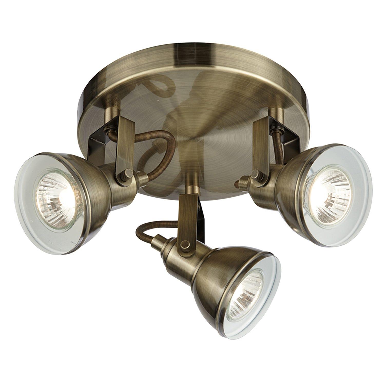3 Spot Light, Antique Brass