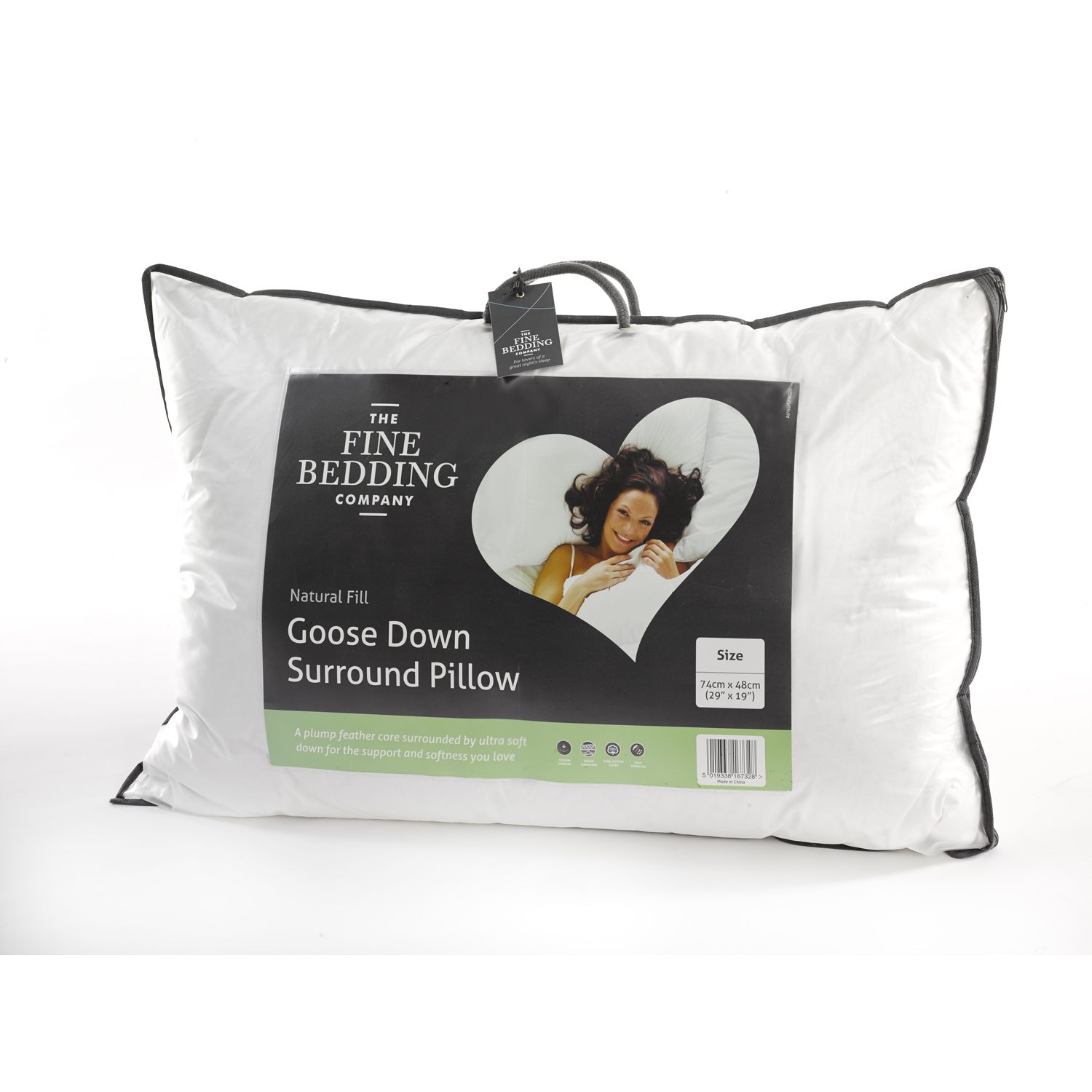Image of Fine Bedding Company Goose Down Surround Pillow